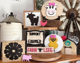 Farm Tiered Tray svg | Farm Tier Tray svg | Tiered Tray svg files | Tier Tray svg files | Farmhouse tier tray svg | Cow tiered tray svg |