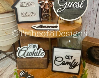 Guest Room Tiered Tray svg | Guest Room Signs | Guest Room Decor | Tiered Tray svgs | Tiered Tray Signs svg | Wifi svg | Guest Room | SVG |