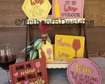 Wine Tiered Tray svg | Wine Tier Tray svg | Wine Decor | Wine Sign svgs | Wine svgs | Wine Bar svg | Tiered Tray svg | Tier Tray svg | svg |