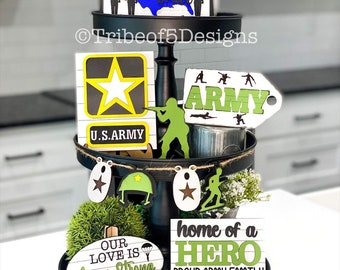 Army Tiered Tray svg   Army Military Tiered Tray svg   Army Signs svg   Military Signs svg   Army Gifts   Tiered Tray svg   Tier Tray Army