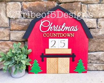 Christmas Countdown Sign svg | Christmas Countdown svg | Countdown Calendar Sign svg | Farmhouse Christmas svg | Barn Sign svg | Farmhouse |