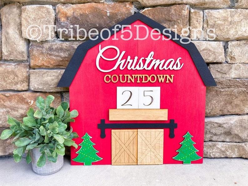 Christmas Countdown Sign svg  Christmas Countdown svg  image 0