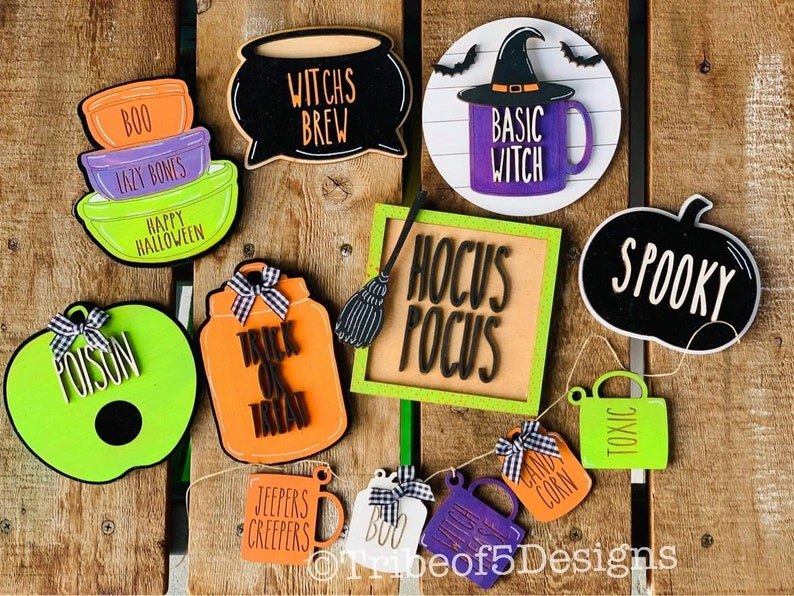Rae Dunn Tiered Tray svg  Rae Dunn Halloween Tiered Tray svg image 0