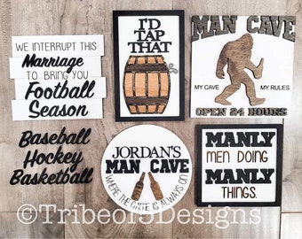 Man Cave TIered Tray svg | Tiered Tray For Men | Man Cave Signs svg | Sports Tiered Tray svg | Sports Tier Tray Signs svg | Svg Files |