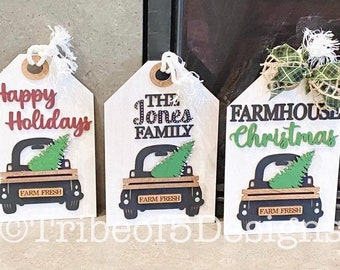 Christmas Mantel Signs svg | Christmas Door Hang Signs svg | Farmhouse Door Hangs svg | Farmhouse Mantel Signs | Red Truck Signs svg |