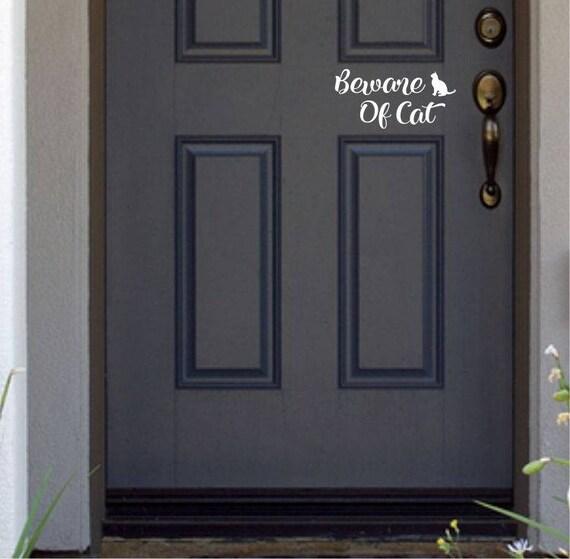 home security sign decal door Vinyl funny beware of the dog window sticker