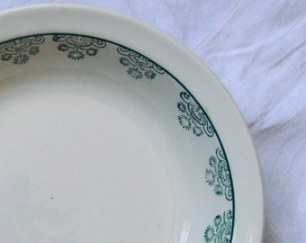 Dish service hollow flowered earthenware old Digoin Sarreguemines France
