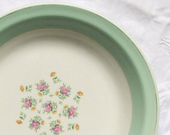 Service dish hollow floral opaque porcelain earthenware old Lunéville France