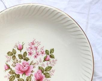 Dish service hollow flowered earthenware old Gien Aloha vintage spirit family home France