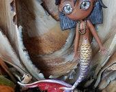 Black Pearl caramel Mermaid figure