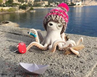 "Photo 21 x 21 cm ""Papa Octopus in winter"""