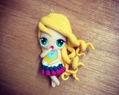 Blonde doll dress with st...