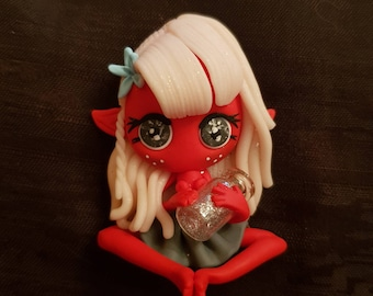 Little red lutine with magic bottle