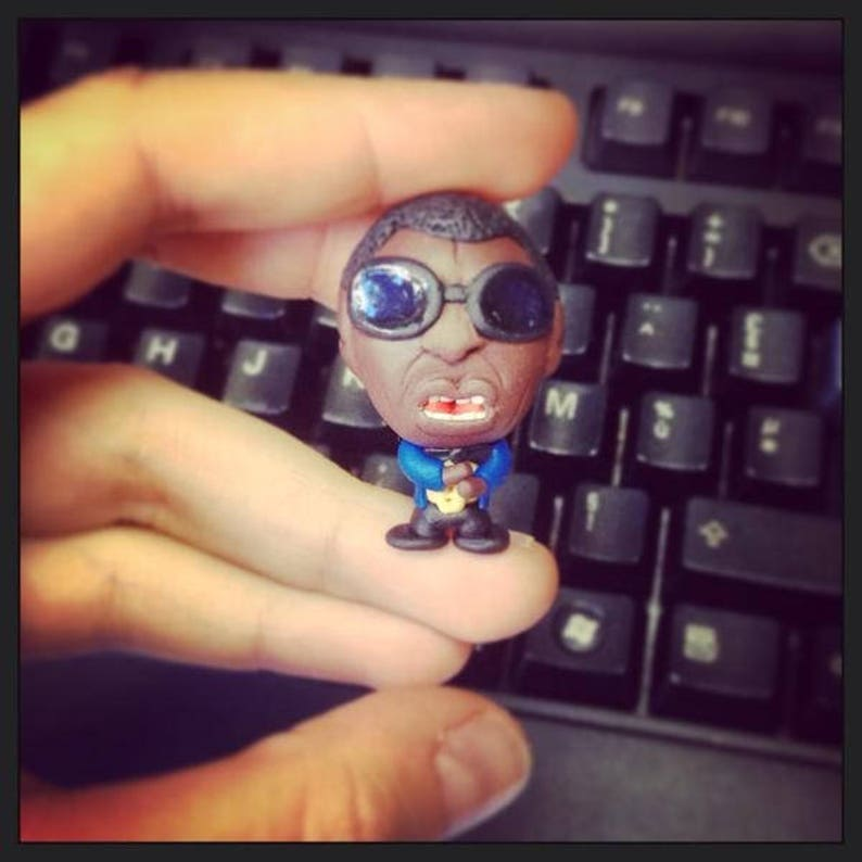 UNIQUE hand made Ray Charles magnet image 0