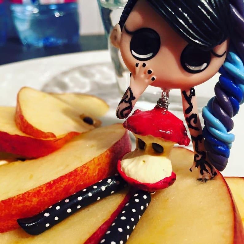 Cute love Apple girl tattoo image 0
