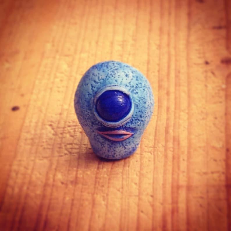 Blue Cyclops Monster mini sculpture image 0
