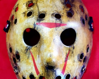 Batman /'66 hand-painted mashup Jason hockey mask