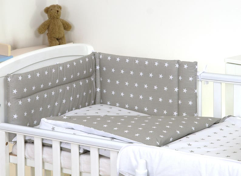Lovely 5 pcs BABY BEDDING SET//BUMPER// DUVET// COVER  to  fit cot or cot bed