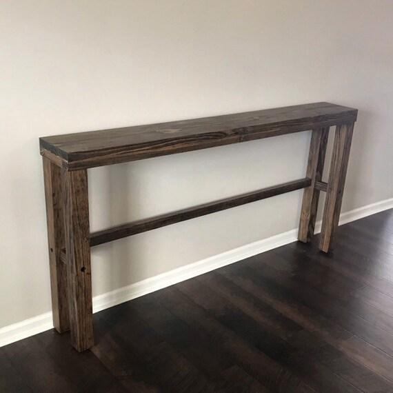 Long Narrow Console Table / Long Narrow Sofa Table / Skinny Slim Console  Table / Sofa Table / Behind Sofa Couch Table / Entryway Table
