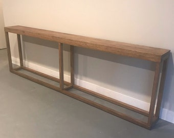 9 Foot Long Console Table / Extra Long Sofa Table / Narrow Console Table /  Behind