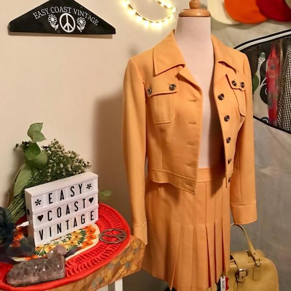 1960s Carnaby Street Mustard Yellow Jacket & Skir… - image 6