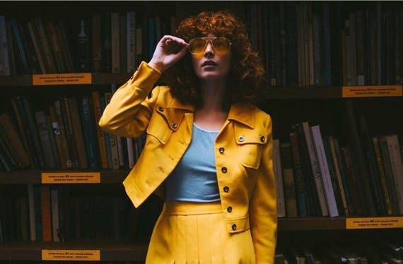 1960s Carnaby Street Mustard Yellow Jacket & Skirt
