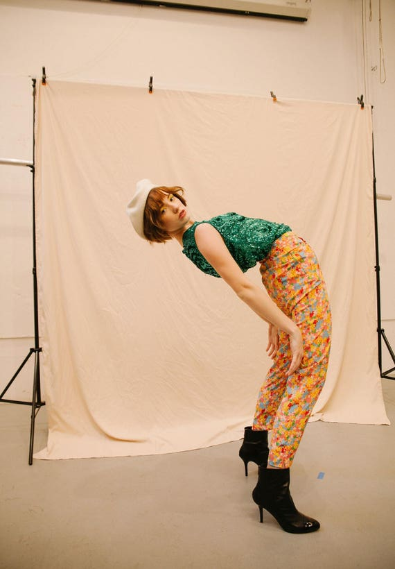 Vintage Moschino Couture! Floral Pants