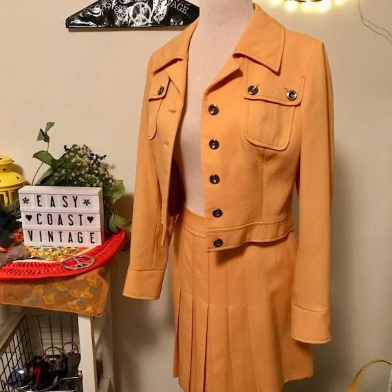 1960s Carnaby Street Mustard Yellow Jacket & Skir… - image 7