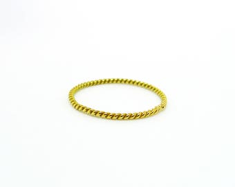 Gold braided ring-made to order-made to measure