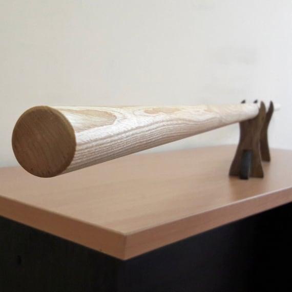 "Wooden Bo long pole stick 182 cm 71,7/"" White acacia - Robinia"