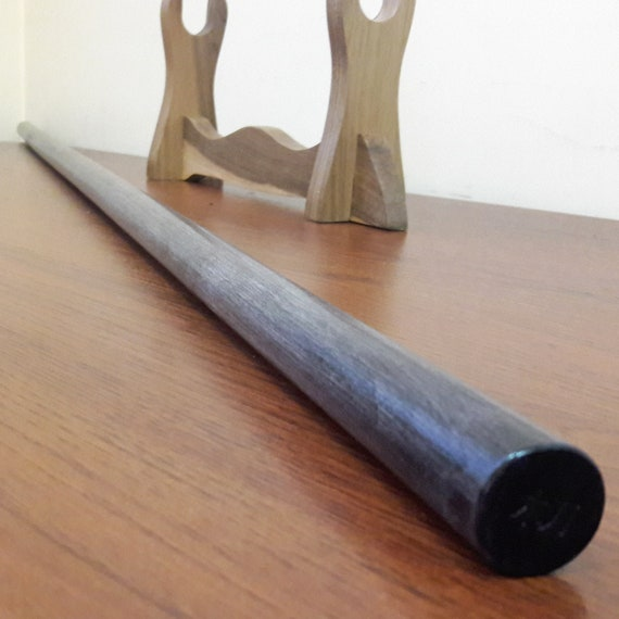 "50.4/"" Jo staff for jodo aikido kobudo hornbeam brown 128 cm"