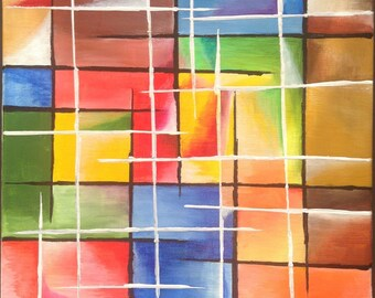 Modern canvas.     Title: vivid color