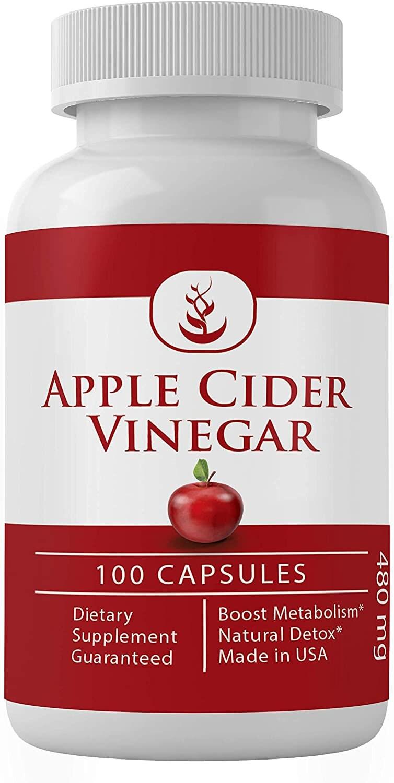 Apple Cider Vinegar (100 Capsules 480 mg/Serving)