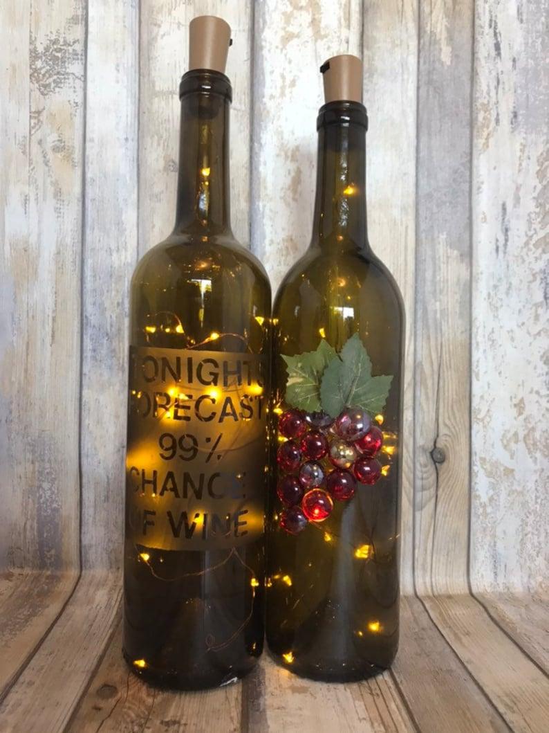 Wine Theme Bottle Lamp Set