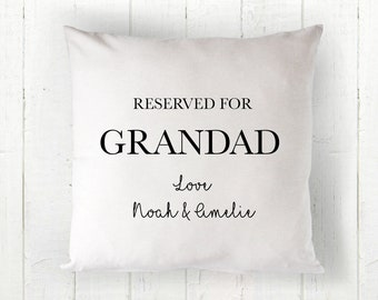 Gift Present Xmas Birthday Reserved for Gran Cushion Cover New