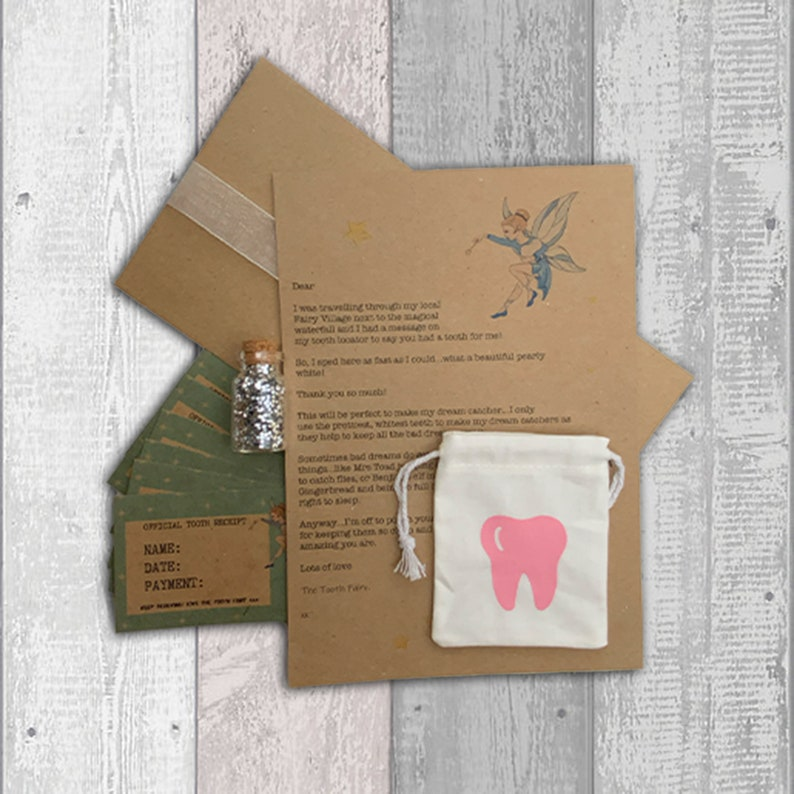 Personalised Tooth Fairy Kit Tooth Fairy Certificates Lost image 0