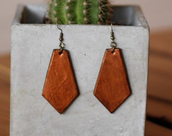 Dylan Copper Collection Earrings | Leather Earrings | Birthday Gift | Anniversary | Gifts under 25 | Handmade | Gifts for Her