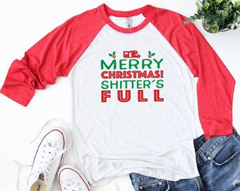 067abee45 Christmas Vacation Shirt, Funny Holiday Shirt, Funny Christmas Raglan, Funny  Christmas Tees, You Serious Clark, Griswold Christmas Shirts