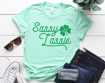 cc420689 St Patricks Day Shirt Women, St Patricks Shirt, St Patricks Day Tee, Womens  Shirts, Shirts for Wome, Shamrock Tshirt, Sassy Lassie Shirt