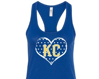 KC Tank Top, Royals Tank Top, KC heart, Kansas City Royals Tank Top, Womens Royals Shirt, Royals tank top, KC Royals Tanks, Royals TShirts