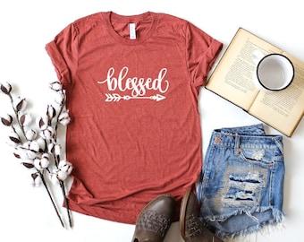 3efec54ed2ac Blessed Shirt, Blessed T Shirt, Thanksgiving T Shirt, Fall Shirt Women, Cute  Fall Shirt, Womens Fall Shirts, Thanksgiving Shirts for Women