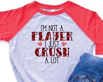 Boys Valentines Day Shirt, Boy Valentines Shirt, Boy Valentine Tee, Boy Valentine Outfit, Boys Valentines Day tshirt, Crush a Lot Shirt