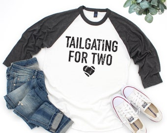71935c2722492 Football Pregnancy Announcement Shirt, Tailgating For Two, Pregnancy Shirt,  Funny Maternity Shirt, Football Mom Tee, Football Shirts Women