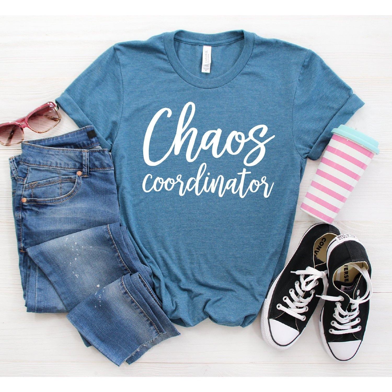 Mom Life Teacher Shirts Mom t-shirt Teacher Tee Chaos Tee Mothers Day Gift Teacher Life Chaos Coordinator T-Shirt Gift For Teacher