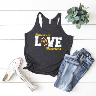 Football Tank Top, Personalized Football Tank Tops, Custom Football Tanks, Cute Football Tank Tops for Women, Football Team Shirts, Game Day
