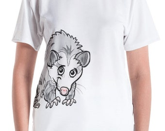 Possum T-Shirt Opossum Women's T-shirt - Printed on Front And Back