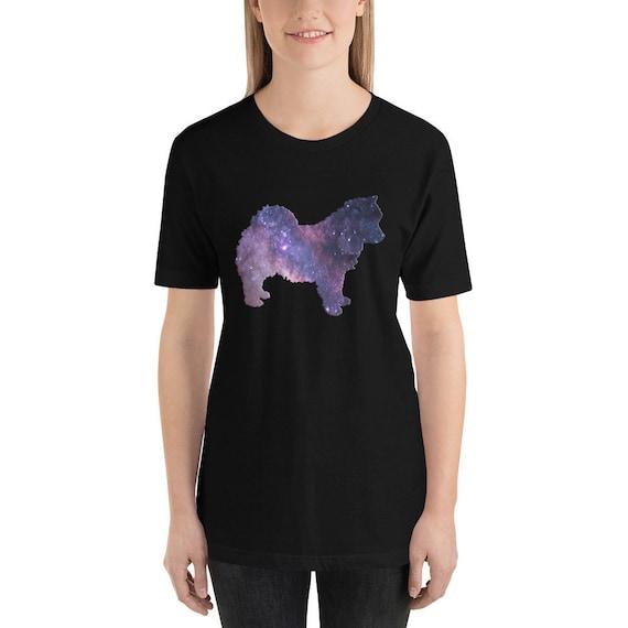 Cosmic Dog Shirt - Pomsky TShirt - Pomeranian T-Shirt - Galaxy T-Shirt -  Mini Husky Short-Sleeve Unisex T-Shirt