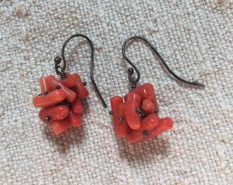 Sirene Vintage Coral & Sterling Silver Earrings