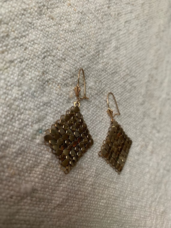 Oasis Gold Lamé Earrings