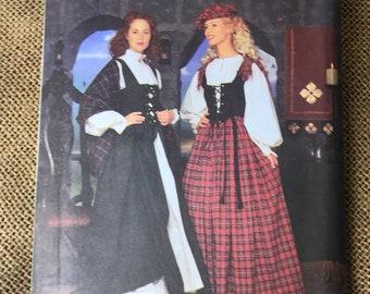 1d8a65336f98 NEW Misses  Bonny Scottish Lass Lace-Up Bodice
